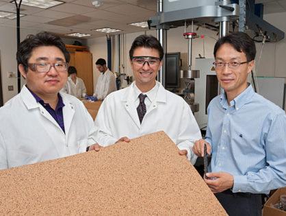 Натуральный пробковый агломерат как экологически безвредное решение для сэндвич-соединений.
