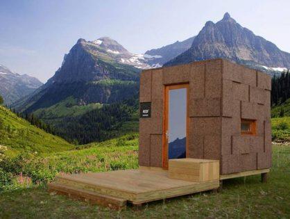 Ecocubo - мини-дом из пробки.